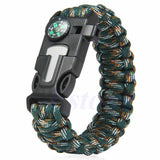 5 in 1 Paracord Survival Bracelet Including; Rope, Compass, Flint, Fire Starter Scraper, Whistle - Nonpareil Jewelry  - 8