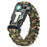 5 in 1 Paracord Survival Bracelet Including; Rope, Compass, Flint, Fire Starter Scraper, Whistle - Nonpareil Jewelry  - 4