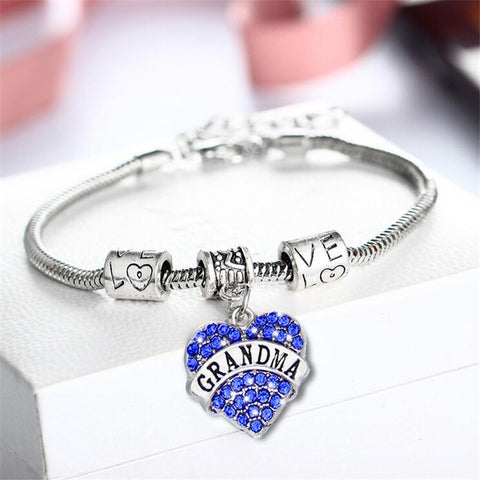 Beautiful Grandma Love Heart Bracelet