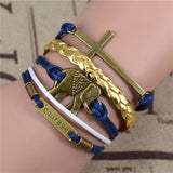 FREE SHIPPING! Fashion Vintage Infinity Anchor Hook Artificial leather Leather Bracelet - Nonpareil Jewelry  - 9