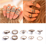 10 pcs. Ring Sets Knuckle Ring