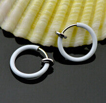 2pcs Fake Piercing Ring Stainless Steel Body jewelry