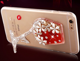 "Luxury 3D Diamond Red Wine Cup Dynamic Liquid Transparent bling Case For iPhone 6s 6s plus6 6 plus solf TPU stand Cover "" FREE SHIPPING "" - More Stuff I Like"