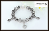 "Antique Silver Charm Bracelet & Bangle 925 Sterling Silver with Heart Pendant "" FREE SHIPPING "" - More Stuff I Like"