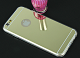 Mirror Electroplating Soft Clear TPU Cases For iphone