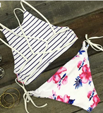 "Hot Fallin' For You Floral Women Bikini Summer Sexy Leisure Swimsuit Polyester Bikini Set "" FREE SHIPPING "" - More Stuff I Like"