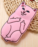 Middle Finger Silicone Cartoon Cat Soft Case For iPhone 6 6S , 6s Plus , 5 5s  with FREE SHIPPING - More Stuff I Like