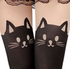 Cute Cat Tail Knee High Tattoo Tights
