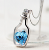 "Creative Women Fashion Love Drift Bottles Blue Heart Crystal Pendant Necklace "" FREE SHIPPING "" - More Stuff I Like"