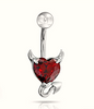 "Devil Heart 316L Stainless Steel Navel Belly Ring Piercing Body Jewelry "" FREE SHIPPING "" - More Stuff I Like"