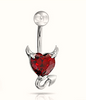 Devil Heart 316L Stainless Steel Belly Button Ring Piercing Body Jewelry