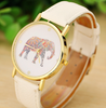 Elephant Printing Women Stylish Casual Quartz Watch