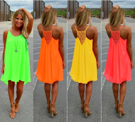 "Sexy Women Summer Casual Sleeveless Evening Party Beach Dress Short Mini Dress "" FREE SHIPPING "" - More Stuff I Like"