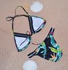 FLORAL TRIANGLE push up Halter Top BIKINI