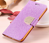 Glitter Bling Diamond Flip Leather Credit Card Slot Wallet Cover Case For Samsung Galaxy