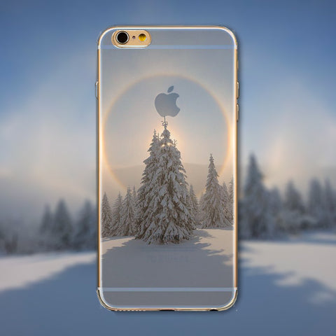 "Beautiful Snowy Winter Phone Case Cover for iPhone 4 4s 5 5s 5c 6 6s 6Plus 6s Plus Transparent Soft Silicone Back Case Cover ""FREE SHIPPING"" - More Stuff I Like"