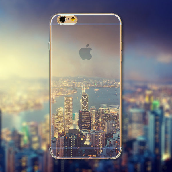 "Downtown City Skyline Phone Case Cover for iPhone 4 4s 5 5s 5c 6 6s 6Plus 6s Plus Transparent Soft Silicone Back Case Cover  ""Free Shipping"" - More Stuff I Like"