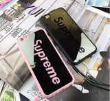 "2016 Fashion Supreme Mirror Case Back Cover for Apple iPhone 5 5s 6 6s 6plus IPhone case Red Black "" FREE SHIPPING "" - More Stuff I Like"