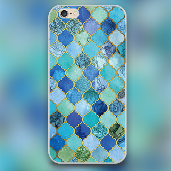 Moroccan Tile Pattern Design iPhone Case
