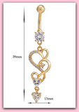 "Sexy Heart Design Gold Dangle Belly Button Ring Hot Body Jewelry "" FREE SHIPPING "" - More Stuff I Like"
