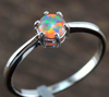 High Quality Blue Pink Fire Opal 925 Sterling Silver Jewelry