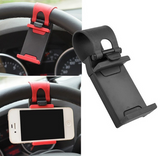 "Universal Car Steering Wheel Mobile Phone Holder Elastic Design Mobile Phone Holder Stand For Smart Phone GPS MP4 PDA    "" FREE SHIPPING """