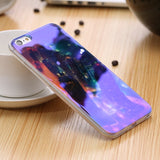 Modern Blue Ray Light Clear Mobile Phone Case For iPhone