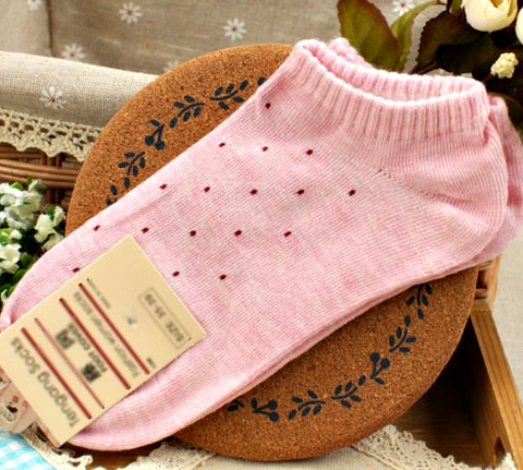 "Women's Fresh Cute Polka Dot Socks Candy Colors Cotton Ankle Socks Soft Seasons "" FREE SHIPPING """