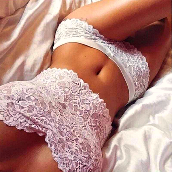 Lace Push Up Corset Bra and Underwear Set