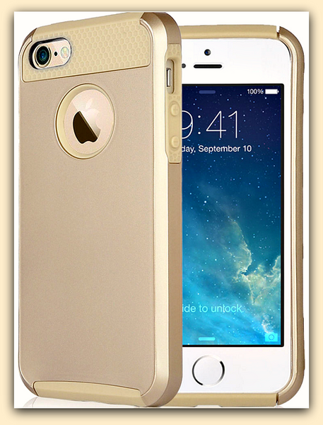 gold hybrid shockproof rugged iphone case