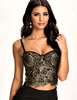 "Gold Spaghetti Strap Sexy Lace Vest Women's Tank Tops Camis Clothing "" FREE SHIPPING "" - More Stuff I Like"