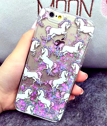 "Unicorn Horse With Dynamic Liquid Glitter Phone Cases Cover For iPhone 5 / 5S 6 / 6S / 6Plus 5.5 "" FREE SHIPPING "" - More Stuff I Like"