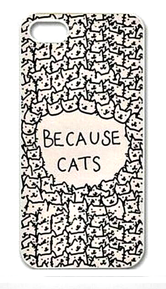 "Because Cats Animal Cat Cartoon Retro Vintage Funny Patterned Hard Back Case Cover Skin For Apple iPhone "" FREE SHIPPING "" - More Stuff I Like"