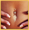 "Cutie Leaves Shaped Crystal Rhinestone Belly Button Ring Fashion Jewelry Navel Ring ""FREE SHIPPING"" - More Stuff I Like"