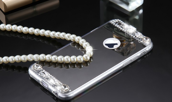 Fashion Soft Mirror Bling Glitter Diamond Case For iPhone