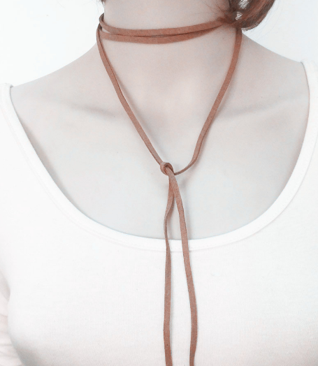 New Leather Bow Choker DIY Necklace