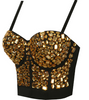 Hand-made Beaded Rhinestone Bustier
