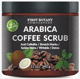 "100% Natural Arabica Coffee Scrub 12 oz. with Organic Coffee Coconut and Shea Butter - Best Acne, Anti Cellulite and Stretch Mark treatment, Spider Vein Therapy for Varicose Veins & Eczema "" FREE SHIPPING "" - More Stuff I Like"