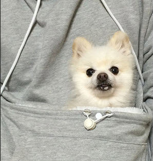 "Dog Lovers Hoodie with Cuddle Kangaroo Pouch ""FREE SHIPPING"""