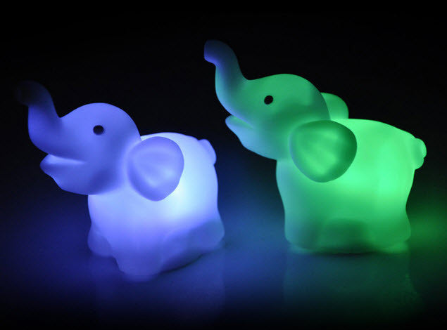 elephant night lamp baby baby elephant led night light lamp with different color changes pcs