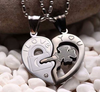 Four-leaf Clover *I LOVE YOU* Key and Lock Lovers Necklace
