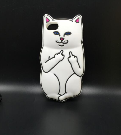 3D Ripndipp Lord Nermal Pocket Cat Soft Silicone iPhone Case