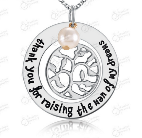 Thank You for Raising the Man of my Dream Pearl Family Tree of life charm Pendant Necklace - More Stuff I Like
