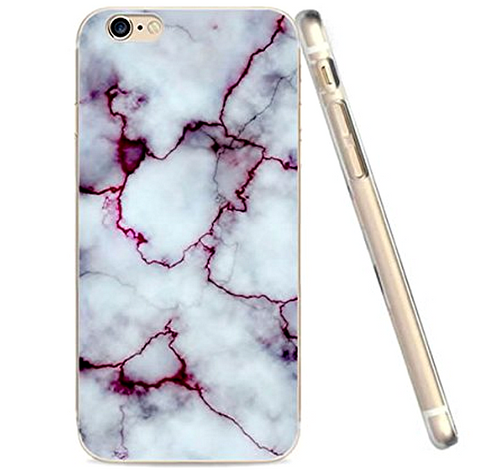 Purple Marble Pattern Case for Iphone 6, 6s Case Soft Flexible TPU Slim Fit ( FREE SHIPPING ) - More Stuff I Like