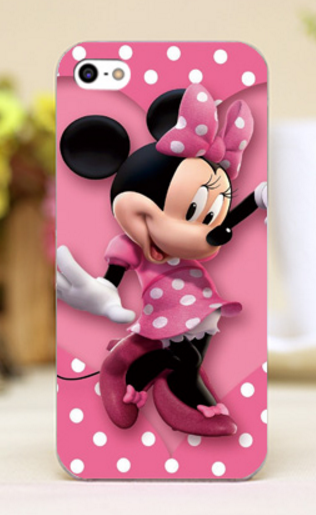 "Pink Minnie Design iPhone Cases transparent cover for iPhone 4 4s 5 5c 5s 6 6plus Hard Shell "" FREE SHIPPING "" - More Stuff I Like"