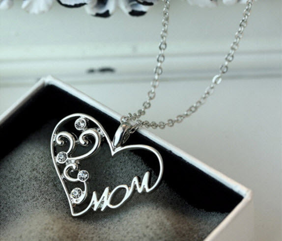 "Special ""Mom"" Crystal Pendant Necklace Mother's Day Gifts ""FREE SHIPPING"" - More Stuff I Like"