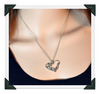 New Mom Charm Silver Crystal Heart Pendant