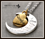I Love You to the Moon and Back Necklace with Moon Heart Pendant