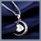 "I Love you to the Moon and Back Heart Pendant Necklace Mother Day and Best Friend Gifts "" FREE SHIPPING"" - More Stuff I Like"