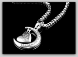 I Love you to the Moon and Back Heart Pendant Necklace